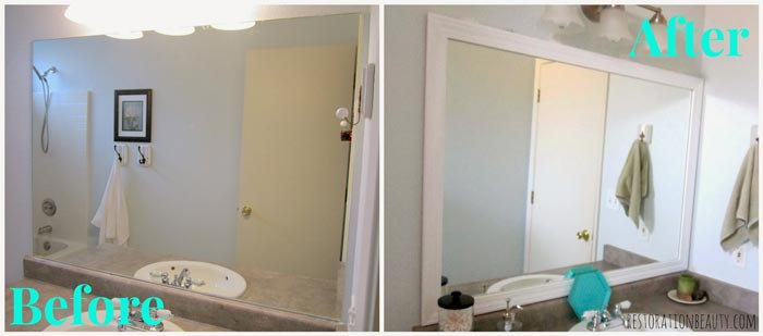 Before-After-framed-bathroom-mirror
