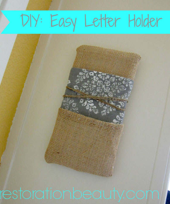 DIY-Mail-Letter-Holder