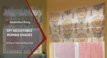 DIY No Sew Roman Shades (Quick & Easy Method)