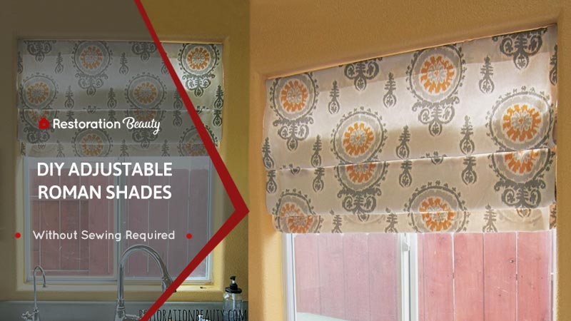 DIY-No-Sew-Roman-Shades