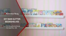 DIY Raingutter Bookshelves