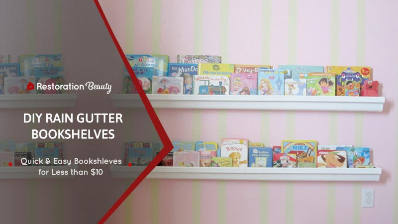 DIY-Rain-Gutter-Bookshelves-at-Home
