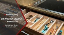 DIY Wooden Drawer Dividers Organizers