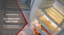 DIY Fridge Mats Shelf Liners – How to Easily Make Refrigerator Shelf Liners