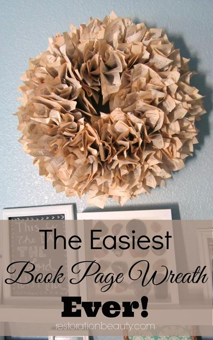 How-to-Make-DIY-Book-Page-Wreath-(Quick-&-Easy-Method)