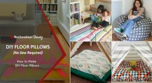 How to Make DIY Floor Pillows (No Sew Required)