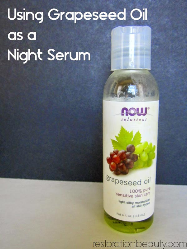 Using-grapeseed-oil-as-a-night-serum