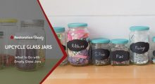 What to Do with Empty Glass Jars – Upcycle Glass Jars