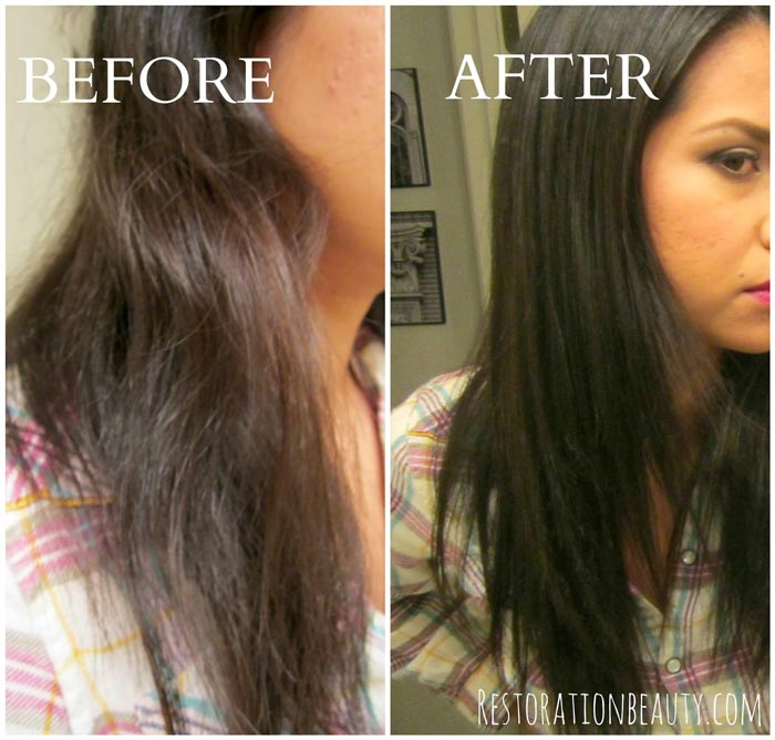 before-and-after-frizzy-to-shiny-hair