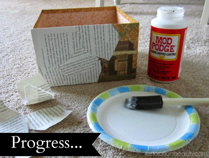 decoupage-box-book-pages