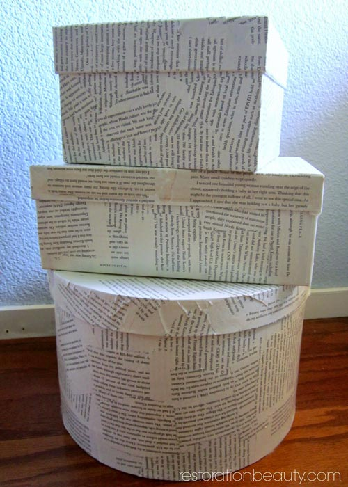 decoupaged-boxes-with-book-pages