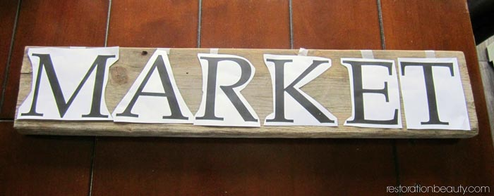 diy-rustic-market-sign,-how-to-transfer-words-on-wood