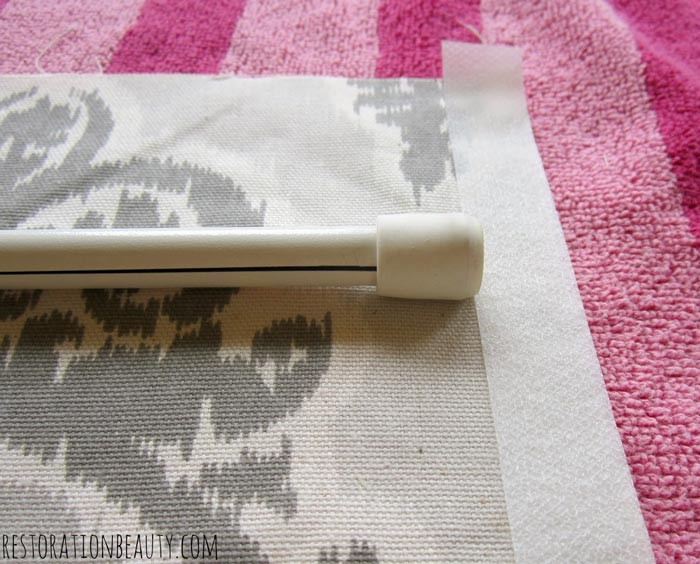 using-tension-rods-to-make-no-sew-roman-shades