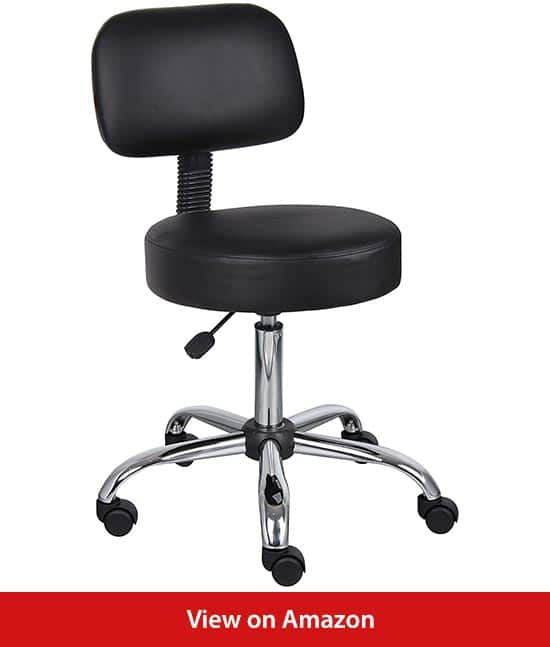 Boss-Office-Products-Be-Well-Medical-Spa-Stool-with-Back-in-Black