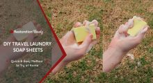 DIY Travel Laundry Soap Sheets